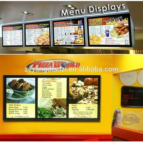 restaurants with light menus design led panel wall mount backlit diy restaurant menu