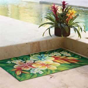 Tropical Outdoor Rugs Tropical Flower Indoor Outdoor Rug 3 X 8 Runner Traditional Doormats By Frontgate