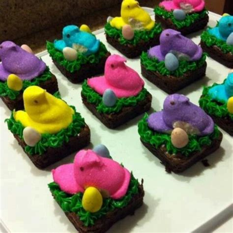 Brownie Decorating Ideas by Decorating Idea For Brownies Easter Peeps Decorating Ideas And Brownies