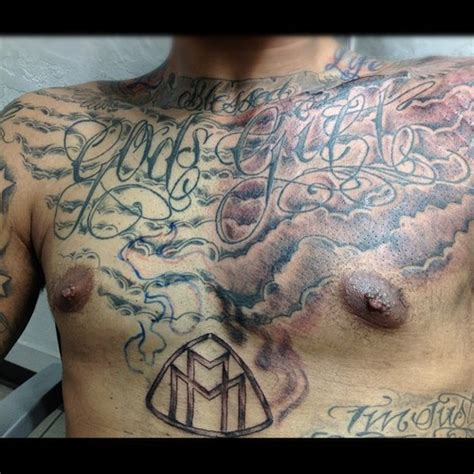 gift from god tattoo designs 35 cloud tattoos on chest