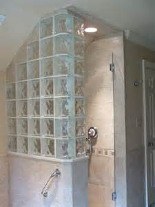 shower glass block bathrooms