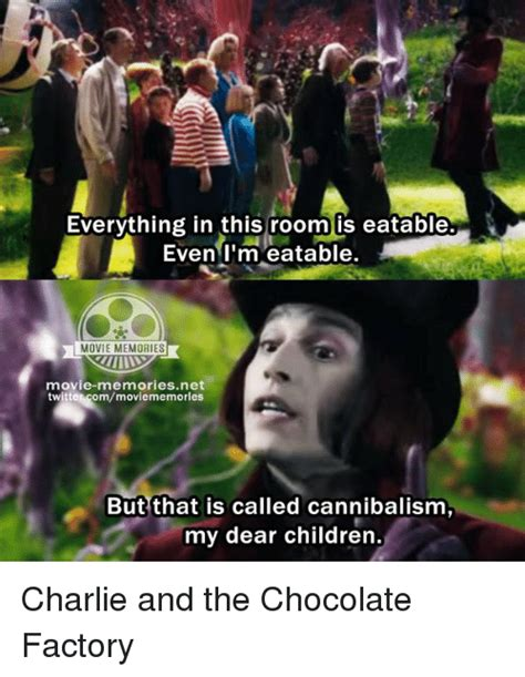 Charlie And The Chocolate Factory Meme - everything in this room is eatable even i m eatable movie
