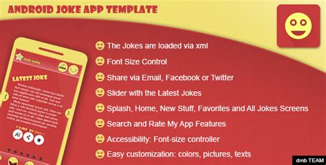 android templates for sale android joke app template by dmbteam codecanyon