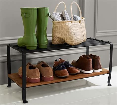pottery barn shoe bench pottery barn entryway furniture sale save 15 on furniture organizing must haves