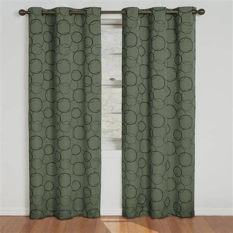 sage curtains drapes eclipse meridian blackout sage curtain panel 84 in