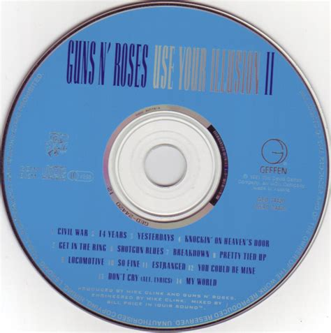 Cd Guns N Roses Use Your Illusion Copertina Cd Guns N Roses Use Your Illusion Ii Cd