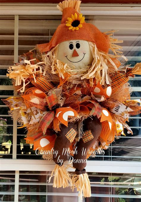 how to make a fall wreaths for front door 25 unique scarecrow wreath ideas on fall mesh