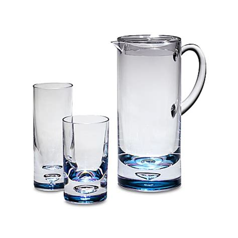 acrylic barware bubble bottom acrylic drinkware bed bath beyond