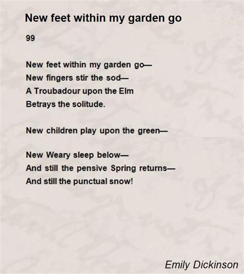 Garden Poems by New Within Garden Go Poem By Emily Dickinson