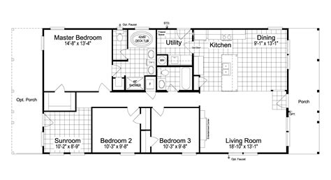 escape floor plan the great escape 30603g manufactured home floor plan or modular floor plans