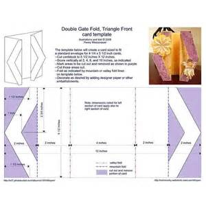 double gate fold triangle front card template thisnext
