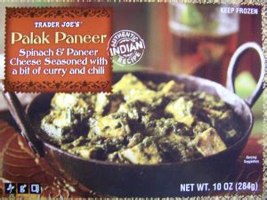 trader joes palak paneer frozen food review aint   good title blog