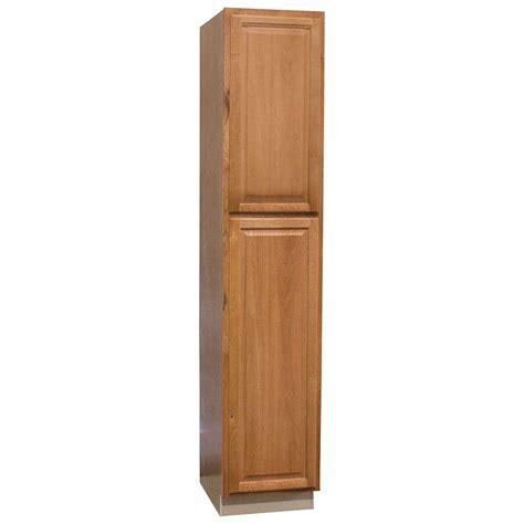 oak pantry cabinets kitchen hton bay hton assembled 18x90x24 in pantry kitchen