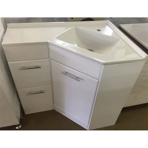 Bathroom Vanities Corner Units Corner Vanity 690r 1 610x910mm Polyurethane Corner Vanity Unit With Australian Made Acrylic
