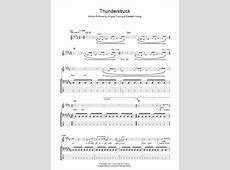 Thunderstruck | Sheet Music Direct Ac Dc Thunderstruck Guitar Tabs