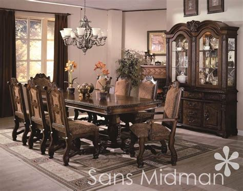 formal  piece renae dining room set table  chairs china hutchbuffet  ebay