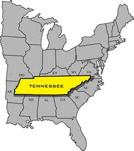 map of and surrounding states maps tn entertainment commission tennessee
