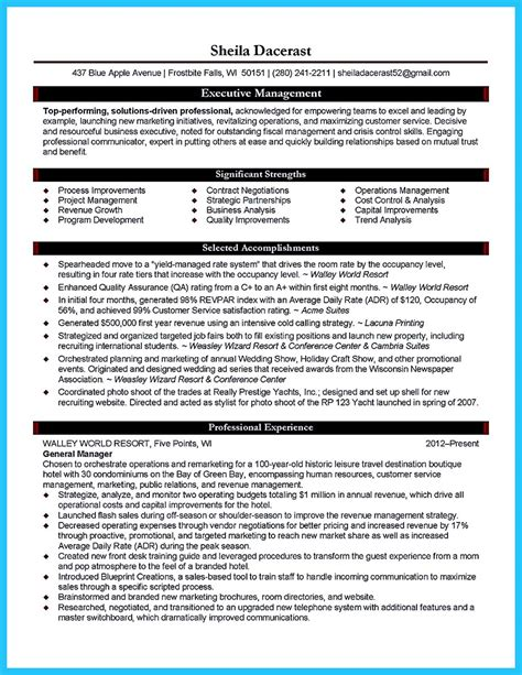Business Manager Resume by Make The Most Magnificent Business Manager Resume For