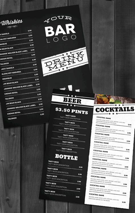 restaurant city layout with drinks lounge bar drink menu modern on behance