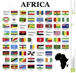 colors of africa flags africa complete set original colors white