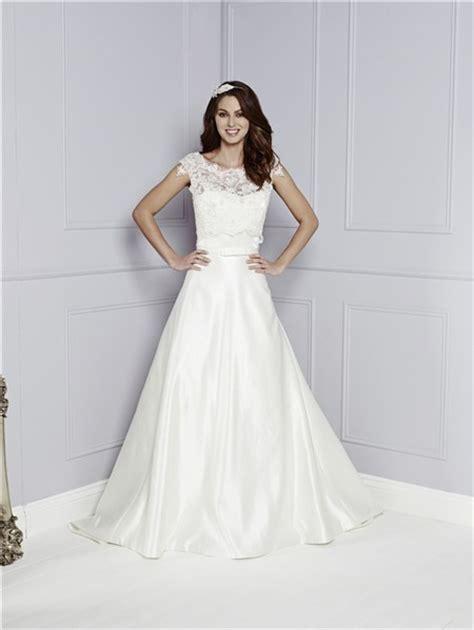 simple   sweetheart satin wedding dress  lace