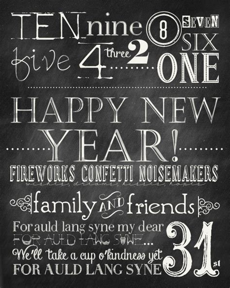 new year pictures to print new years chalkboard free printables the 36th avenue