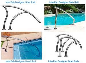 pool handrail installation designer pool ladders rails intheswim pool