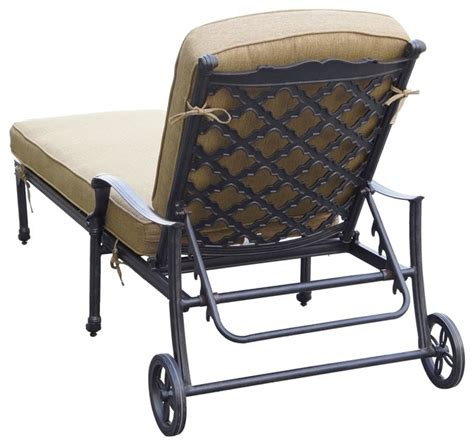 vintage aluminum chaise lounge darlee camino real cast aluminum patio chaise lounge