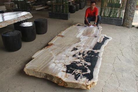 petrified wood slab table petrified wood dining table indogemstone home