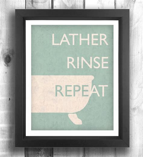 etsy bathroom art quote print poster bathroom decor retro poster by