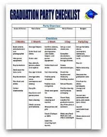 graduation checklist template graduation planning