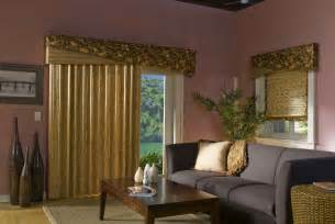 how to choose valances for sliding glass doors