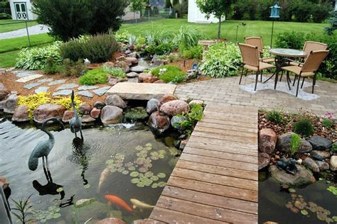 Backyard Pond Images by 53 Cool Backyard Pond Design Ideas Digsdigs