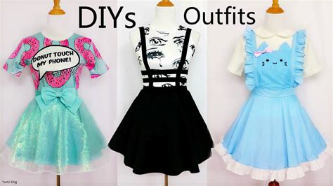 design clothes from scratch 3 cool creative diy outfits from scratch by yumiking on
