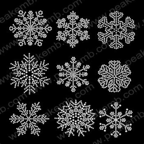 rhinestone template material wholesale snowflak iron on design for rhinestone