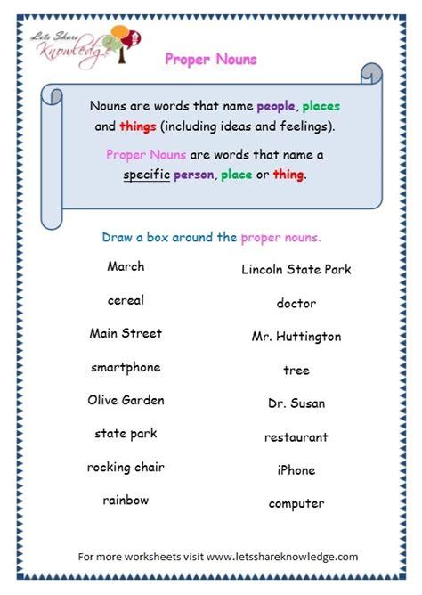 all worksheets 187 proper nouns worksheets printable