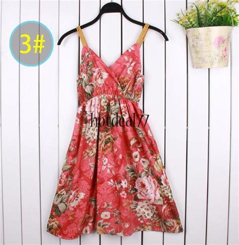 Dress Import 77 sundress maxi tunic halter strappy dress boho skirt vest rural braces ebay