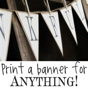 finds free printable banner letters book