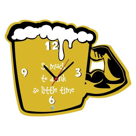 100 best made wall clock 8 clever christmas traps funny beer mug shaped wall clock