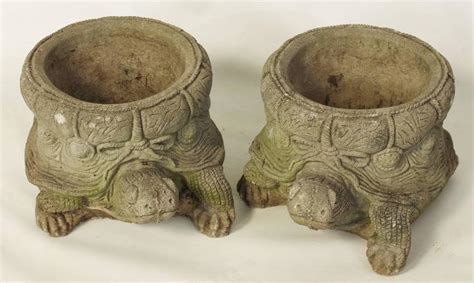 Cast Garden Planters by Pair Of Cast Turtle Form Garden Planters At 1stdibs