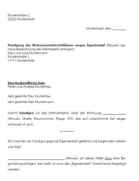 Kündigung Wohnung Eigenbedarf Muster Kostenlos K 252 Ndigung Mietvertrag Muster Franz 246 Sisch K 252 Ndigung Vorlage Fwptc