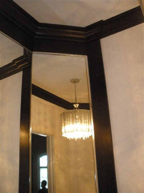 bathroom corner mirror bathroom floating cabinet with light venitian plaster contemporary