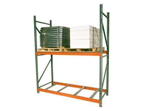 Pallet Rack Uprights by Pallet Rack Section With 2 Uprights And 4 Beams