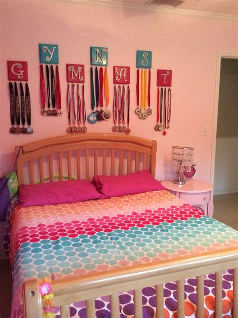 gymnastics themed bedroom gymnastics medal display gymnastics pinterest soccer awesome and so cute