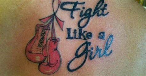 fight like a girl tattoo fight like a logo tattoos looks like a sarcastic