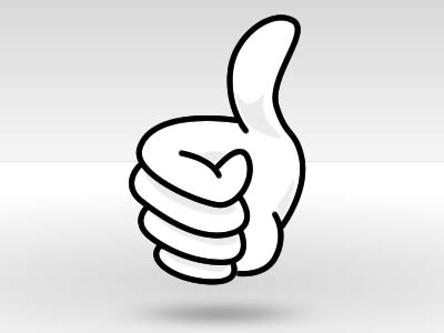 bid up a big thumbs up clip clipart me