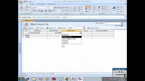 Build Employee Database With Ms Access Youtube Microsoft Access Employee Database Template