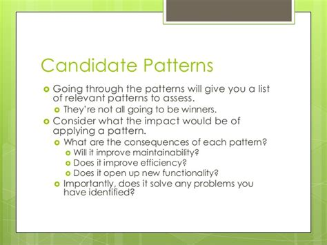 pattern making guidelines patterns05 guidelines for choosing a design pattern