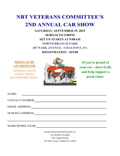 free car show registration form template car show registration form template free