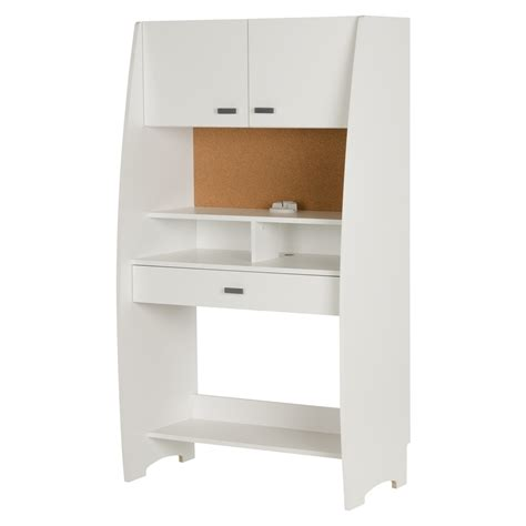 Storage Desk With Hutch South Shore Reevo Desk With Hutch And Storage White